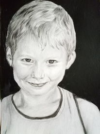 Schelmischer blick, Portrait, Zeichnungen