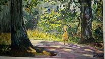 Mädchen, Spaziergang, Natur, Wald