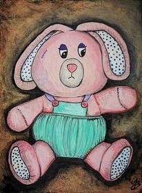 Acrylmalerei, Hase, Kunstobjekt, Spielzeug