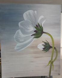 Malerei, Blumen, Acrylmalerei