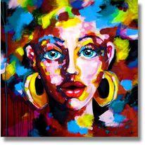 Frau, Ölmalerei, Portrait, Acrylmalerei