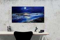 Ölmalerei, Meer, Malerei, Nacht