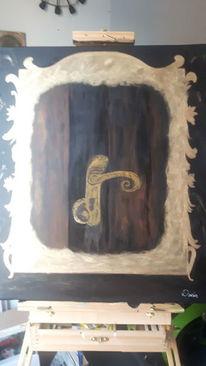 Verborgen, Mystik, Acrylmalerei, Malerei