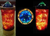 Lampe, Exponalharz, Licht, Bruchglas