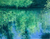 Herbst, Spiegelung, Lorze, Malerei