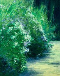 Tessin, Landschaft malerei, Garten, Oleander
