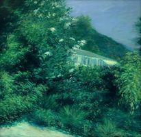 Tessin, Landschaft malerei, Garten ronco, Malerei