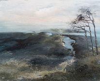 Wasser, Erde, Zerstörte landschaft, Abbrüche licht