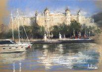 See, Schloss, Pastellmalerei, Architektur