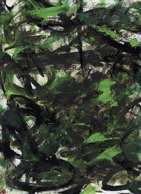 Zeichnung, Weiß, Bunt, Malerei abstrakt