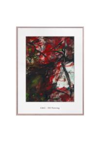 Malerei abstrakt, Acrylmalerei, Weiß, Rot