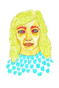 Portrait, Zeichnung, Schielen, Edding