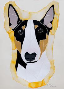 Malen, Hund, Abstrakt, Hundeportrait