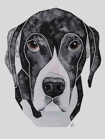 Geburtstag, Hundeportrait, Malen, Aquarellmalerei