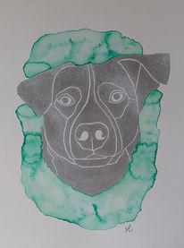 Erinnerung, Mischling, Hundeportrait, Tierportrait