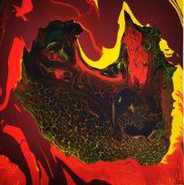 Fantasie, Abstrakt, Acrylmalerei, Mischtechnik