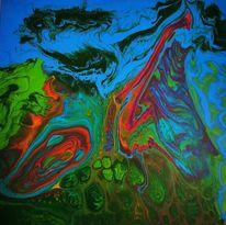 Acrylmalerei, Abstrakt, Fantasie, Mischtechnik