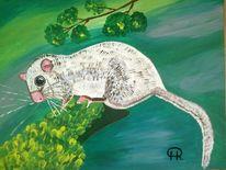 Landschaft, Tiere, Abstrakte malerei, Comic