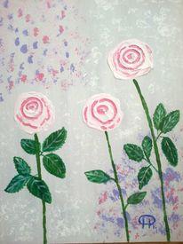 Abstrakte malerei, Blumen, Malerei,