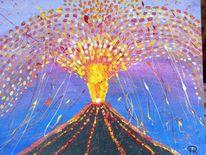Abstrakte malerei, Natur, Fantasie, Vulkan