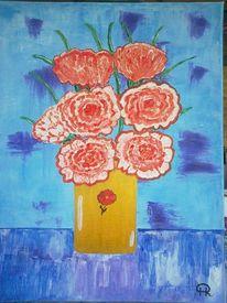 Abstrakte malerei, Blumen, Nelke, Fantasie
