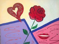 Abstrakte malerei, Fantasie, Malerei, Rose