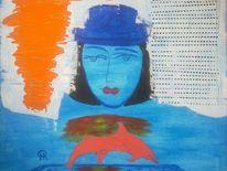 Abstrakte malerei, Fantasie, Menschen, Malerei