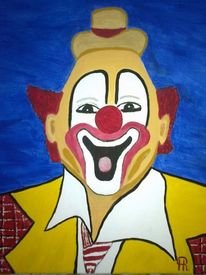 Abstrakte malerei, Clown, Malerei,