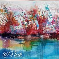 Malerei, Landschaft malereiherbst, Traum, Leben