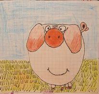 Piggeldy, Comic, Schwein, Zeichnungen