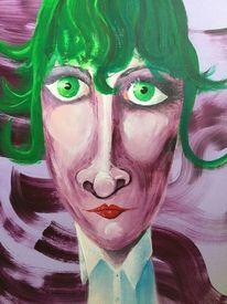 Portrait, Humor, Farben, Malerei