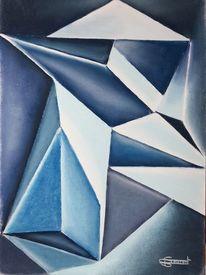 Blau, Scharfkantig, Geometrie, Licht