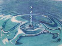 Wasser, Tropfen, Licht, Malerei