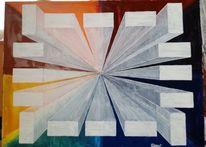 Geometrie, Rechteck, Perspektive, Malerei