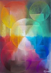 Alle farben, Abstrakt, Geometrie, Malerei