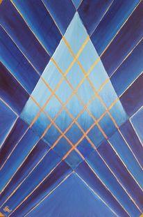 Kreuzung, Kontrast, Geometrie, Malerei
