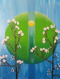 Sphäre, Blüte, Licht, Malerei