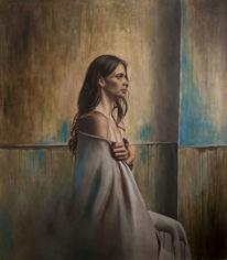 Menschen, Fotorealismus, Portrait, Ölmalerei