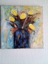 Pflanzen, Mischtechnik, Malerei