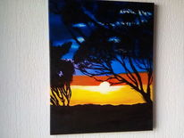 Pflanzen, Acrylmalerei, Landschaft, Malerei