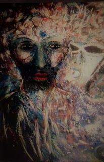 Gesicht, Maske, Berührungsangst, Malerei