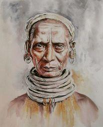 Indien, Aquarellmalerei, Aquarell