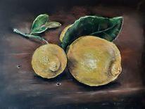 Pastellmalerei, Zitrone, Stillleben, Zeichnungen