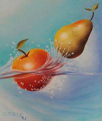 Birne, Obst, Ölmalerei, Malerei