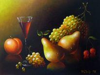 Stillleben, Birne, Tropfen, Früchte