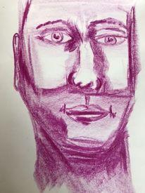 Abstrakt, Portrait, Menschen, Gesicht