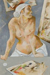 Ölmalerei, Portrait, Akt, Atelier