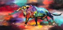 Abstrakt, Acrylmalerei, Ochse, Eltoro