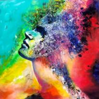Acrylpainting, Gesicht, Fantasie, Abstrakt