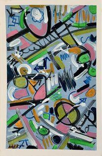 Modern art, Abstrakt, Spiel, Acrylmalerei